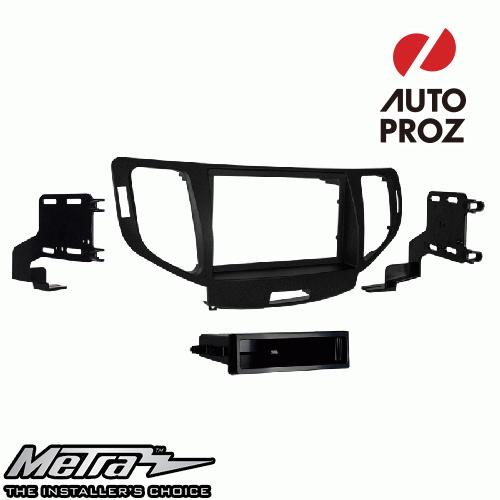 [METRA 正規品] アキュラ TSX ナビなし車両 2009-2014年 シングルDIN オーディオ取り付けキット/ダッシュキット チャコールグレー