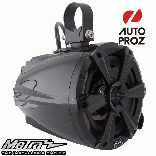 [METRA 正規品] 6.5インチ タワースピーカー RGBライト付 ブラック 2個