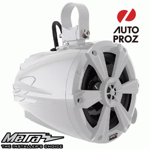 [METRA 正規品] 6.5インチ タワースピーカー RGBライト付 ホワイト 2個