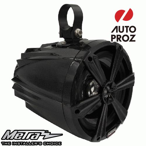 [METRA 正規品] 8インチ タワースピーカー RGBライト付 ブラック 2個