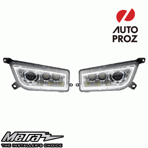 [METRA 正規品] ポラリス RZR Extreme LEDヘッドライト LED DRL Halo 左右セット