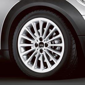 【US直輸入純正品】MINI Cooper Hardtopミニクーパー17インチホイールマルチスポーク(シルバー)※タイヤ ホイール4本セット