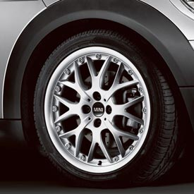 【US直輸入純正品】MINI Cooper Hardtopミニクーパー17インチホイール 4本クロススポーク コンポジット(シルバー)※センターキャップ付き