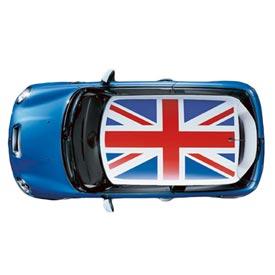 【US直輸入純正品】MINI Cooper Hardtopミニクーパーサンルーフ グラフィックユニオンジャック ステッカー(デカール/シール)