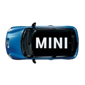 """【US直輸入純正品】MINI Cooper Hardtopミニクーパールーフ グラフィック""""MINI""""ステッカー(デカール/シール)※ホワイト"""
