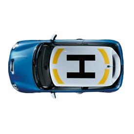 【US直輸入純正品】MINI Cooper Hardtopミニクーパールーフ グラフィックヘリポート ステッカー(デカール/シール)※ブラック
