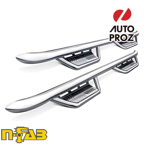 [n-Fab 正規品] フォード F-250/F-350 スーパーデューティー 1999-2016年 ガソリン/ディーゼル SRW/DRWステップ ポリッシュステンレス