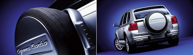 【Porsche 直輸入純正品】ポルシェ Cayenne カイエン2003 - 2007年式適合スペアタイヤカバー