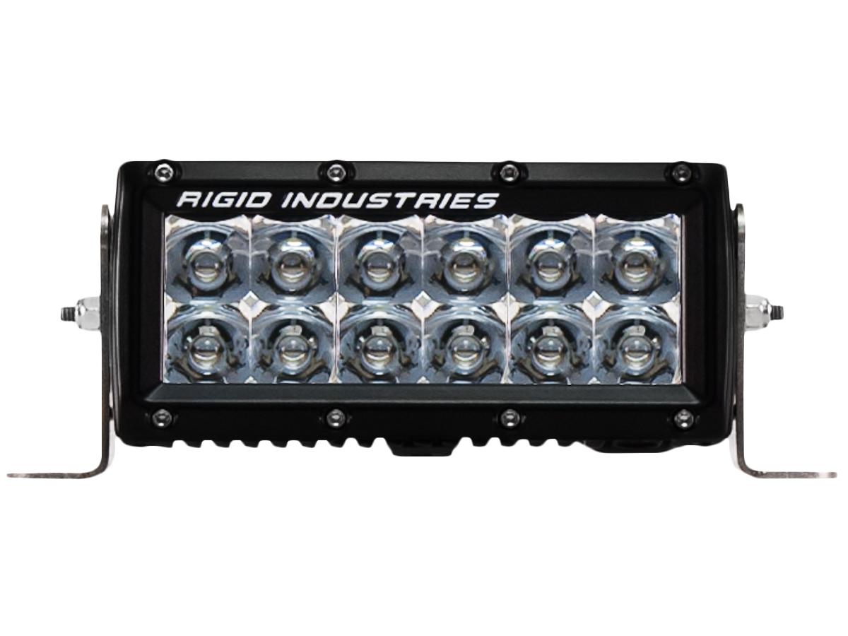 【US直輸入正規品】RIGID INDUSTRIESリジッドインダストリーEシリーズ6インチ LEDライト 1個(色:アンバー/オレンジ タイプ:スポット)
