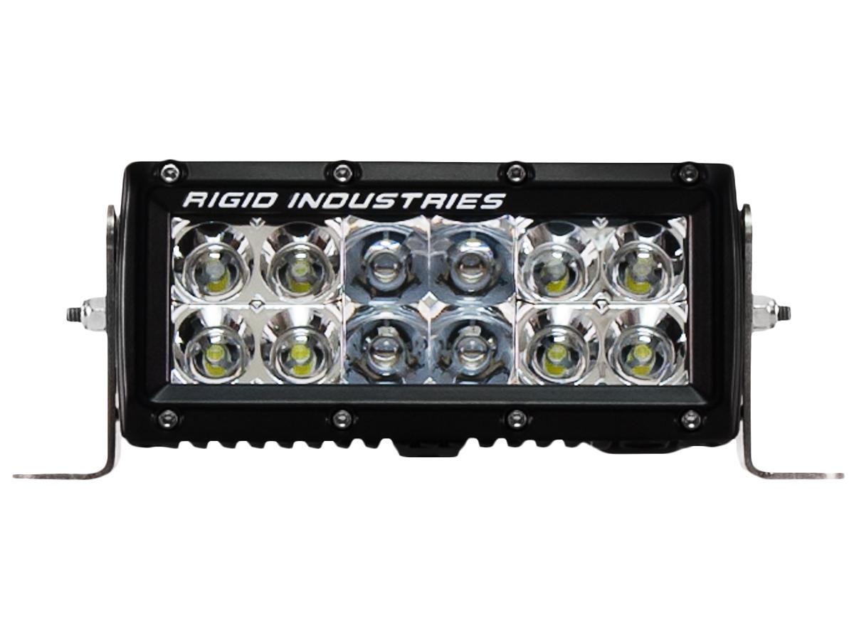 【US直輸入正規品】RIGID INDUSTRIESリジッドインダストリーEシリーズ6インチ LEDライト 1個(色:アンバー/オレンジ タイプ:コンボ)