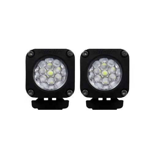 【USリジッドインタストリーズ 直輸入正規品】 RIGID INDUSTRIES Ignite イグナイト ホワイト 拡散タイプ LEDライト 2個セット