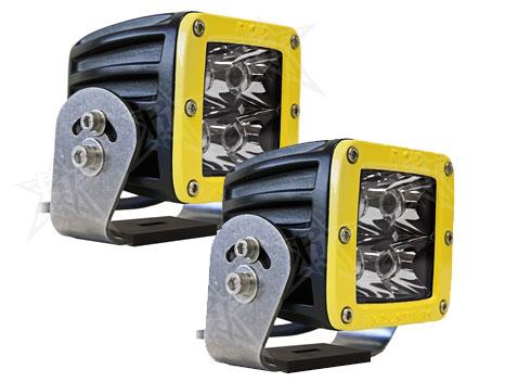 【US直輸入正規品】RIGID INDUSTRIESリジッドインダストリーDually (デュアリー)HD LEDライト/イエローベゼル※2個 スポット (ホワイトLED)