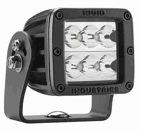 【US直輸入正規品】RIGID INDUSTRIESリジッドインダストリーD2シリーズ HD BLK WIDMIL-STD-461FLEDライト(色:ホワイト/タイプ:ワイド)※1個