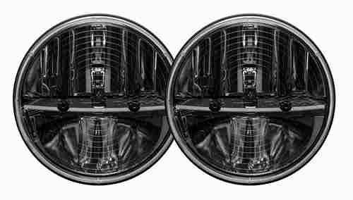 【US直輸入正規品】RIGID INDUSTRIESリジッドインダストリーJEEP ジープJK Wrangler JKラングラー2ドア/ラングラー アンリミテッド2007-2016年PWMアダプター付き 7インチラウンドLED ヒートレンズ ヘッドライト2個