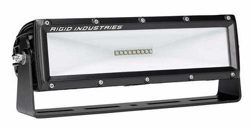 【US直輸入正規品】RIGID INDUSTRIESリジッドインダストリーシーン 2x10 115°LEDライト(色:ホワイト/タイプ:エリアライティング)※1個 黒