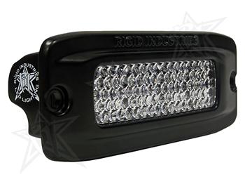 【US直輸入正規品】RIGID INDUSTRIESリジッドインダストリーSR-Q2 フラッシュマウント LEDライト(色:オレンジ タイプ:拡散)