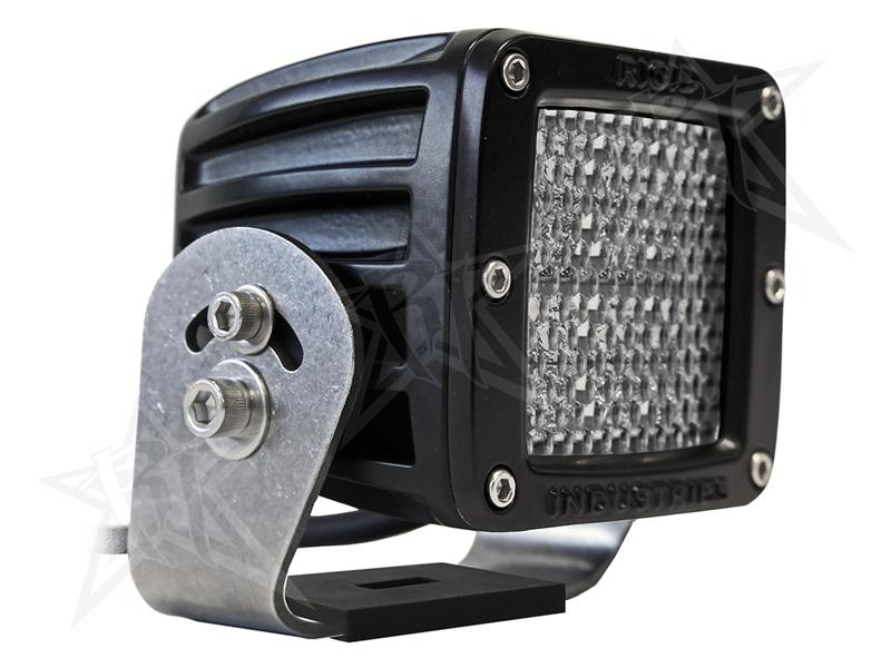 【US直輸入正規品】RIGID INDUSTRIESリジッドインダストリーD2 HD LEDライトブラックデフューズLEDカラー:オレンジ※2個セット
