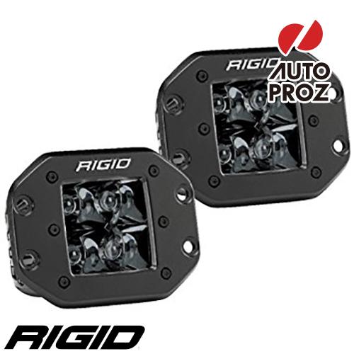 [Rigid Industries 正規品] D-シリーズ PRO LEDライト 2個セット 発光パターン:スポット ミッドナイト フラッシュマウントタイプ