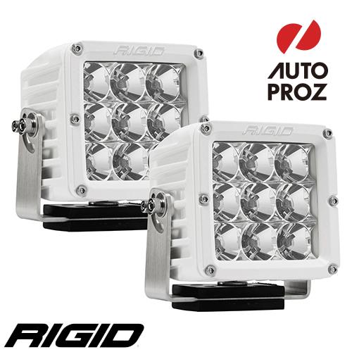 [Rigid Industries 正規品] D-XL PRO LEDライト ホワイト 2個セット 発光パターン:フラッド