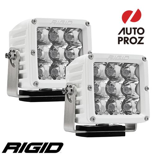 [Rigid Industries 正規品] D-XL PRO LEDライト ホワイト 2個セット 発光パターン:スポット