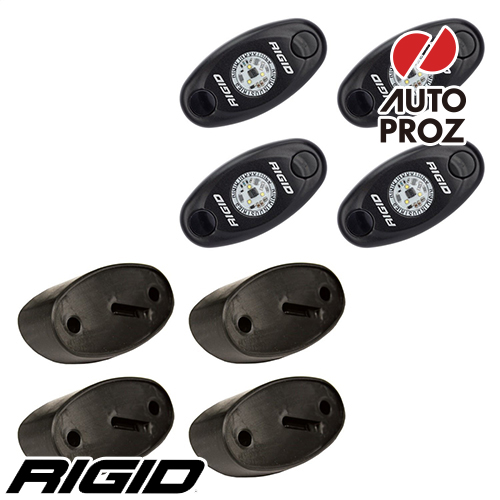 [Rigid Industries 正規品] ロックライトキット 4個セット LEDカラー:レッド
