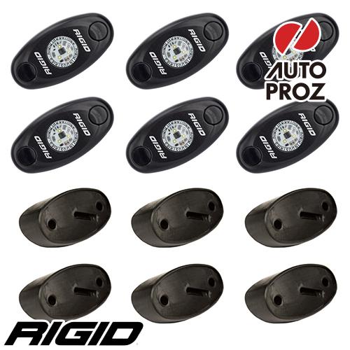 [Rigid Industries 正規品] ロックライトキット 6個セット LEDカラー:クールホワイト