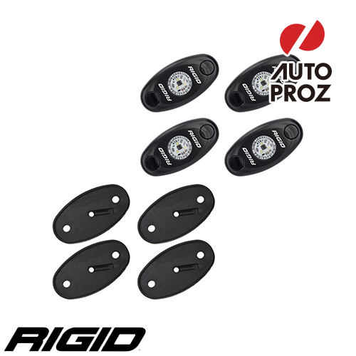 [Rigid Industries 正規品] ボートデッキキット 4個セット LEDカラー:クールホワイト/ブルー