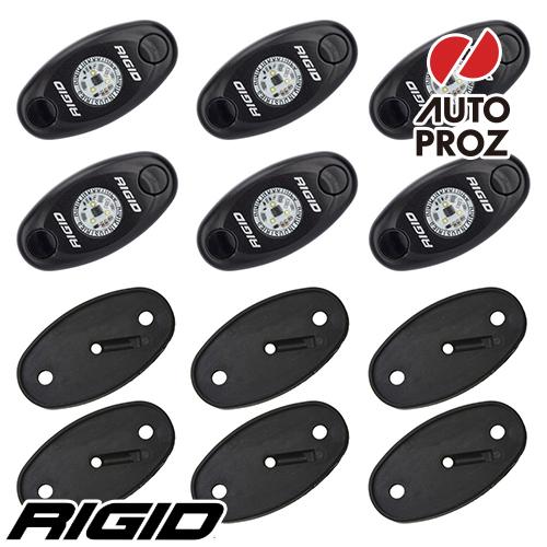 [Rigid Industries 正規品] ボートデッキキット 6個セット LEDカラー:ブルー