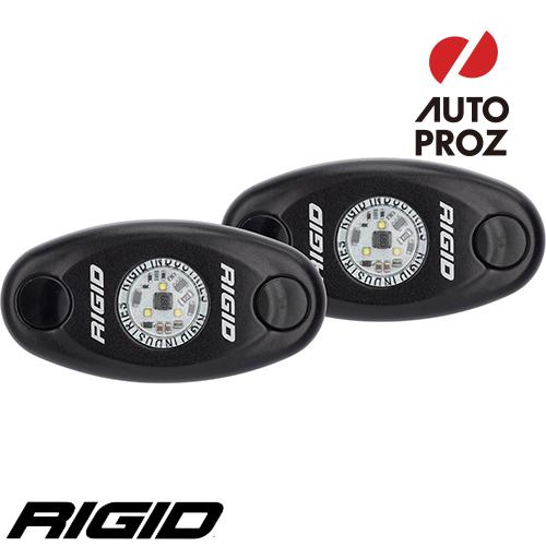[Rigid Industries 正規品] A-シリーズ ローパワー ブラック 2個セット LEDカラー:ブルー