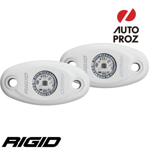 [Rigid Industries 正規品] A-シリーズ ハイパワー ホワイト 2個セット LEDカラー:ウォームホワイト