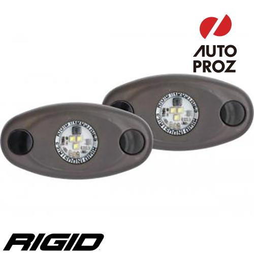 [Rigid Industries 正規品] A-シリーズ ハイパワー Triplexコーティング 2個セット LEDカラー:レッド