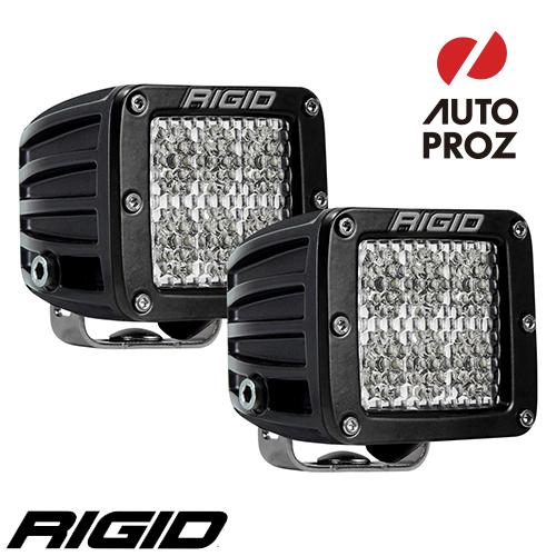 [Rigid Industries 正規品] D-シリーズ PRO LEDライト 2個セット 発光パターン:スペクター ディフューズ サーフェスマウントタイプ