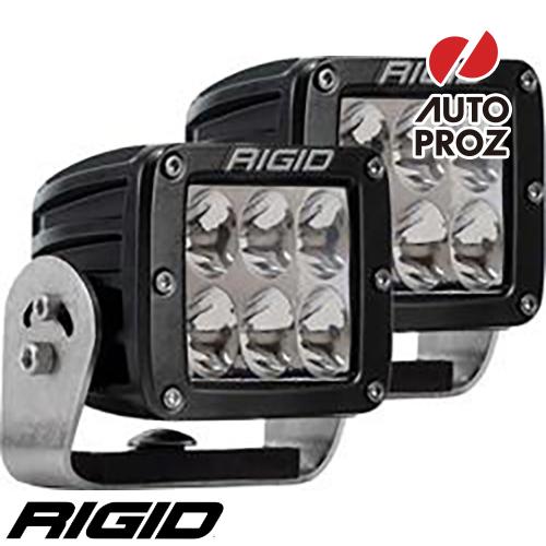 [Rigid Industries 正規品] D-シリーズ PRO HD LEDライト 2個セット 発光パターン:ドライビング