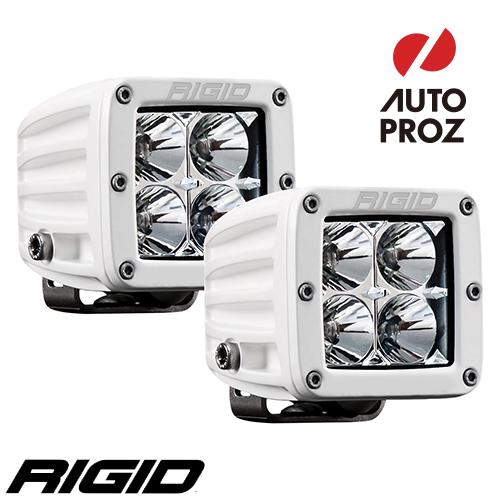[Rigid Industries 正規品] D-シリーズ PRO LEDライト 2個セット LEDカラー:ホワイト 発光パターン:フラッド サーフェスマウントタイプ