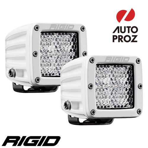 [Rigid Industries 正規品] D-シリーズ PRO LEDライト 2個セット LEDカラー:ホワイト 発光パターン:ディフューズ サーフェスマウントタイプ