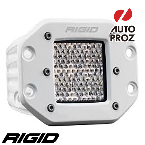 [Rigid Industries 正規品] D-シリーズ PRO LEDライト LEDカラー:ホワイト 発光パターン:ディフューズ フラッシュマウントタイプ