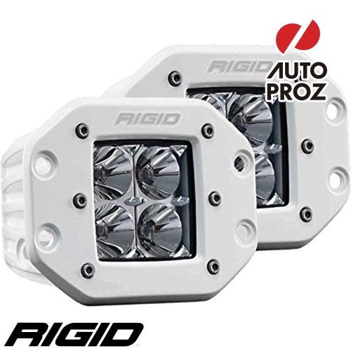 [Rigid Industries 正規品] D-シリーズ PRO LEDライト 2個セット LEDカラー:ホワイト 発光パターン:フラッド フラッシュマウントタイプ