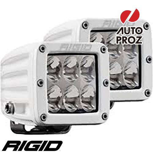 [Rigid Industries 正規品] D-シリーズ PRO LEDライト 2個セット LEDカラー:ホワイト 発光パターン:ドライビング サーフェスマウントタイプ
