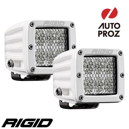 [Rigid Industries 正規品] D-シリーズ PRO LEDライト 2個セット LEDカラー:ホワイト 発光パターン:スペクター ディフューズ サーフェスマウントタイプ