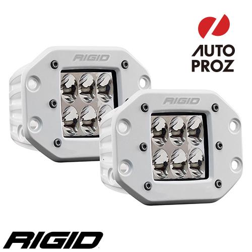 [Rigid Industries 正規品] D-シリーズ PRO LEDライト 2個セット LEDカラー:ホワイト 発光パターン:ドライビング フラッシュマウントタイプ