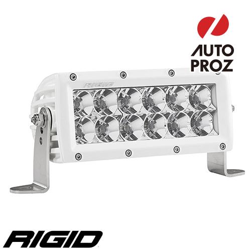 """[Rigid Industries 正規品] E-シリーズ PRO 6"""" LEDライト LEDカラー:ホワイト 発光パターン:フラッド"""