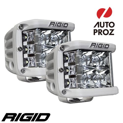 [Rigid Industries 正規品] D-SS PRO LEDライト 2個セット LEDカラー:ホワイト 発光パターン:スポット サーフェスマウントタイプ