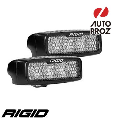 [Rigid Industries 正規品] SR-Q LEDライト 2個セット LEDカラー:オレンジ 発光パターン:フラッド サーフェスマウントタイプ