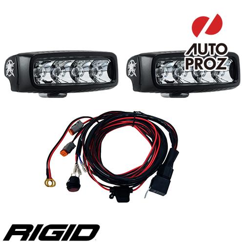 [Rigid Industries 正規品] SR-Q E-MARK LEDライト2個セット 発光パターン:スポット