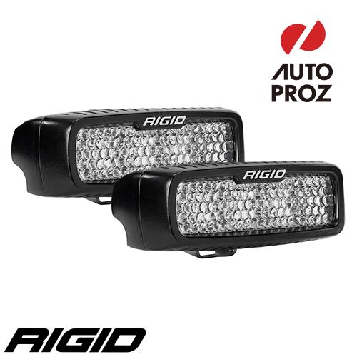 [Rigid Industries 正規品] SR-Q LEDライト UV 2個セット 発光パターン:ドライブ ディフューズ サーフェスマウントタイプ