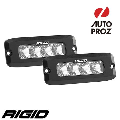 [Rigid Industries 正規品] SR-Q LEDライト 2個セット LEDカラー:オレンジ 発光パターン:フラッド フラッシュマウントタイプ