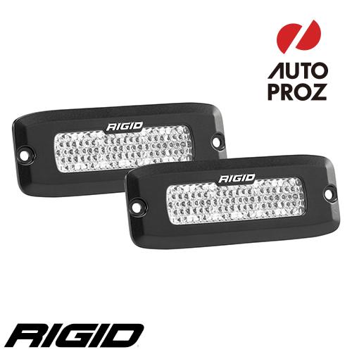 [Rigid Industries 正規品] SR-Q LEDライト 2個セット LEDカラー:オレンジ 発光パターン:ドライブ ディフューズ フラッシュマウントタイプ