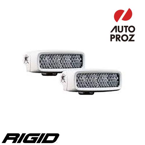 [Rigid Industries 正規品] SR-Q LEDライト ホワイト 2個セット LEDカラー:256色 発光パターン:ディフューズ サーフェスマウントタイプ