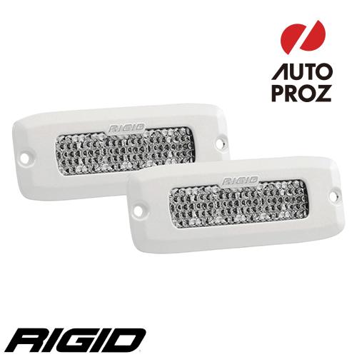 [Rigid Industries 正規品] SR-Q LEDライト ホワイト 2個セット LEDカラー:256色 発光パターン:ディフューズ フラッシュマウントタイプ