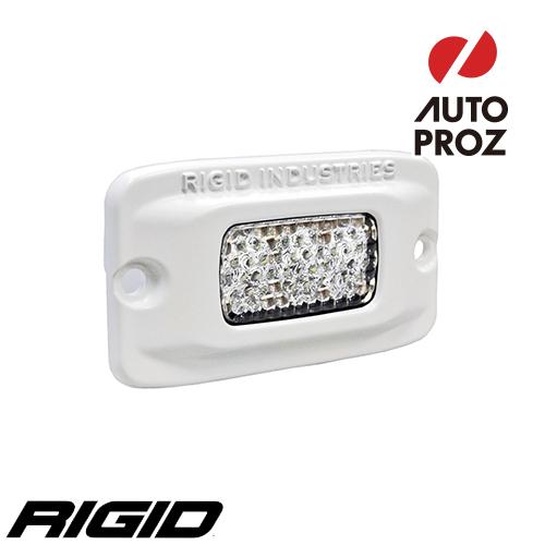 [Rigid Industries 正規品] SR-M LEDライト H/L LEDカラー:ホワイト 発光パターン:ドライブ ディフューズ フラッシュマウントタイプ